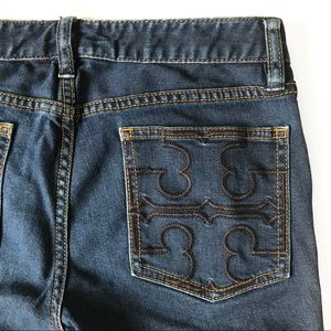 Tory Burch Super Skinny Blue Denim Jeans Size 28